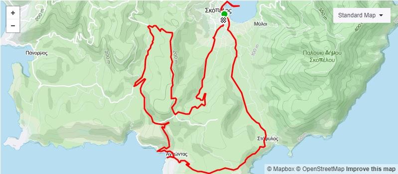 2 Map Cycling Skopleos