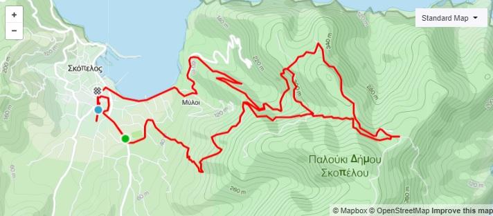 5η Ποδηλατική Διαδρομή Σκόπελος – Παλούκι (ΜΤΒ)_Map