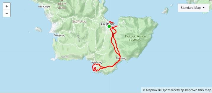 6η Ποδηλατική Διαδρομή Σκόπελος – Αγνώντας (ΜΤΒ GRAVEL)_Map