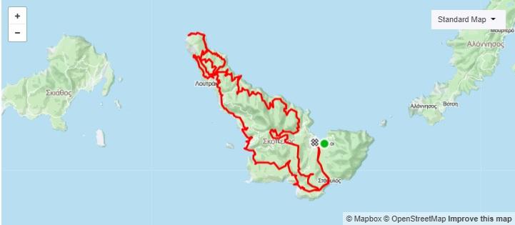 7η Ποδηλατική Διαδρομή Ο Γύρος της Σκοπέλου (ΜΤΒ GRAVEL)_Map
